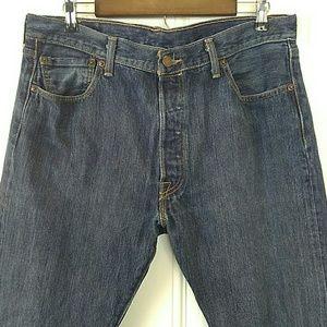 Levi's 501 five pocket straight leg jeans